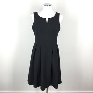 White House Black Market 8 Split neck Flare dress